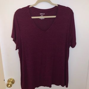Apt 9 Essentials XXL Vneck PurpleBlack speckle Tee